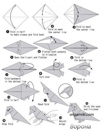 Тип поделки:: Птицы из бумаги